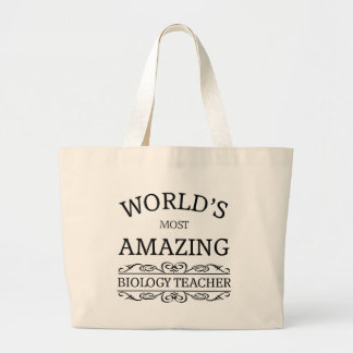 World's most amazing Biology Teacher Jumbo Tote Bag