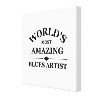 World's most amazing Blues Artist Stretched Canvas Prints