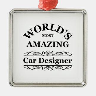 World's most amazing Car Designer Silver-Colored Square Decoration