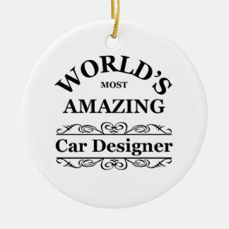 World's most amazing Car Designer Round Ceramic Decoration