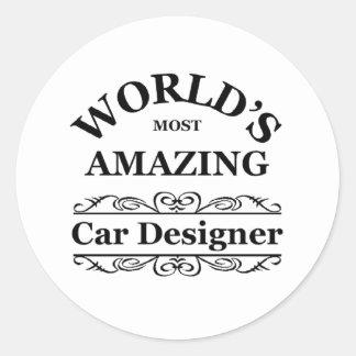 World's most amazing Car Designer Round Sticker