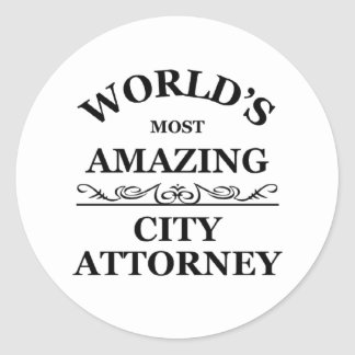 World's most amazing city Attorney Round Sticker