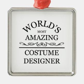 World's most amazing Costume Designer Silver-Colored Square Decoration