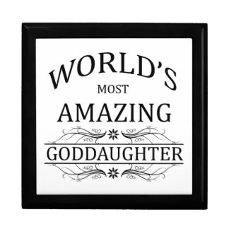 World's Most Amazing Goddaughter Jewelry Boxes