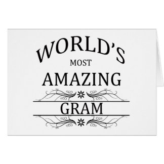 World's Most Amazing Gram Card
