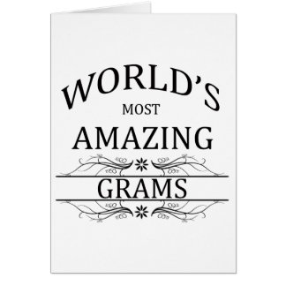 World's Most Amazing Grams Card