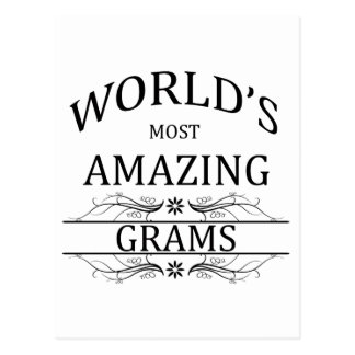 World's Most Amazing Grams Postcard