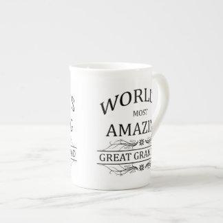 World's Most Amazing Great Granddad Bone China Mug