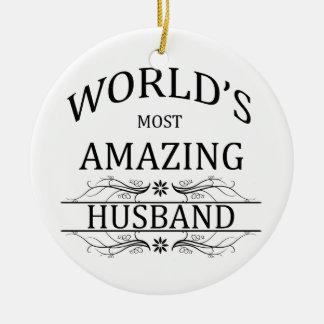 World's Most Amazing Husband Christmas Ornament