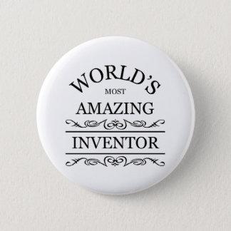 World's most amazing Inventor 6 Cm Round Badge