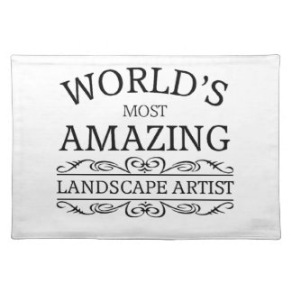 World's most amazing landscape artist place mats