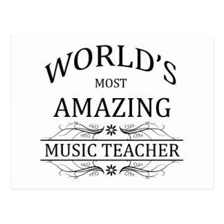 World's Most Amazing Music Teacher Postcard