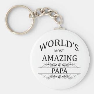 World's Most Amazing Papa Key Ring