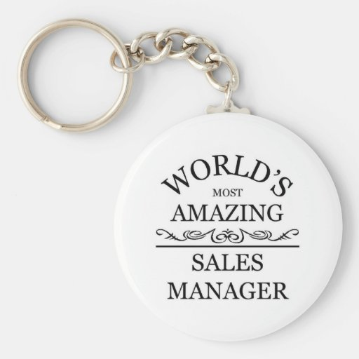 World's most amazing sales manager keychains