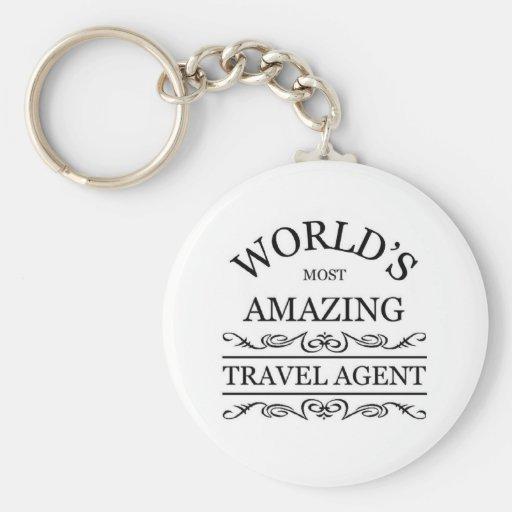 World's most amazing Travel Agent Key Chains