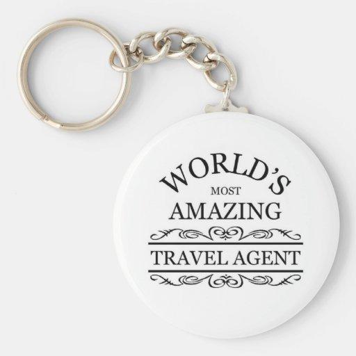 World's most amazing Travel Agent Key Chain