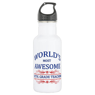 World's Most Awesome 12th. Grade Teacher 532 Ml Water Bottle