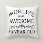 World's Most Awesome 70 Year Old Cushion