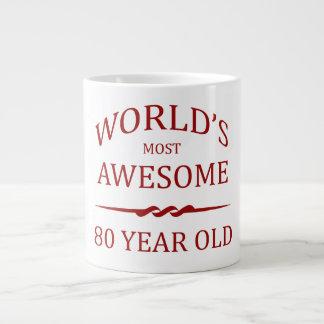 World's Most Awesome 80 Year Old Large Coffee Mug