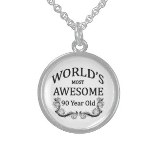 World's Most Awesome 90 Year Old Round Pendant Necklace