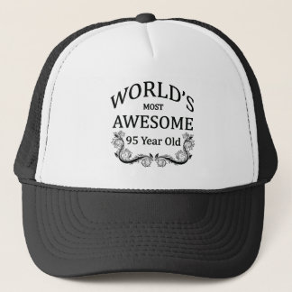 World's Most Awesome 95 Year Old Trucker Hat