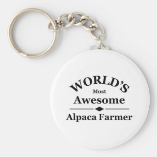 World's most awesome Alpaca Farmer Key Ring
