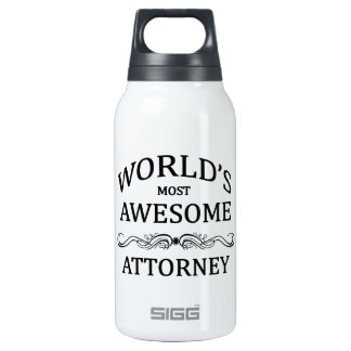 World's Most Awesome Attorney 0.3 Litre Insulated SIGG Thermos Water Bottle
