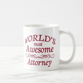 World's Most Awesome Attorney Basic White Mug