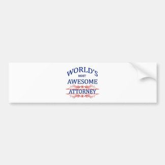 World's Most Awesome Attorney Bumper Sticker