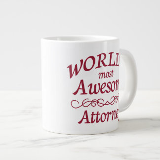 World's Most Awesome Attorney Jumbo Mug