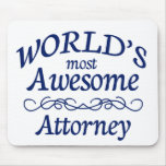 World's Most Awesome Attorney Mouse Pad