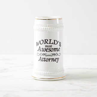 World's Most Awesome Attorney 18 Oz Beer Stein