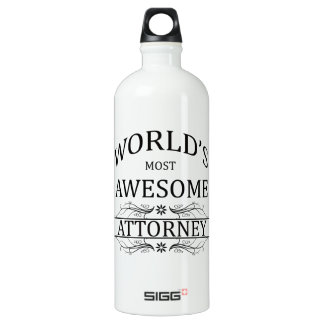 World's Most Awesome Attorney SIGG Traveller 1.0L Water Bottle