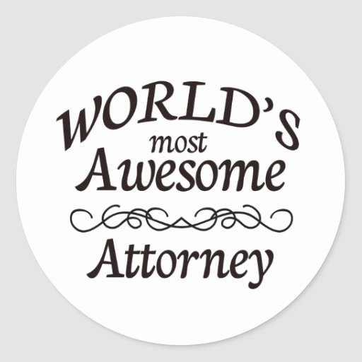 World's Most Awesome Attorney Stickers