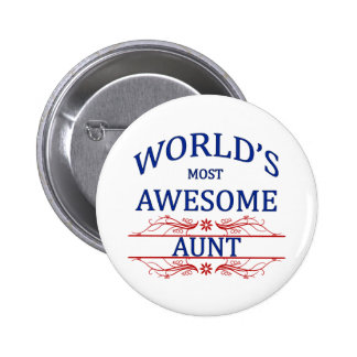 World's Most Awesome Aunt 6 Cm Round Badge
