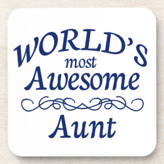 World's Most Awesome Aunt Drink Coaster