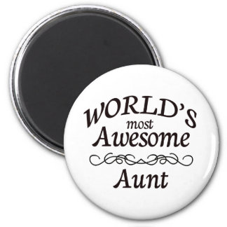 World's Most Awesome Aunt Magnet