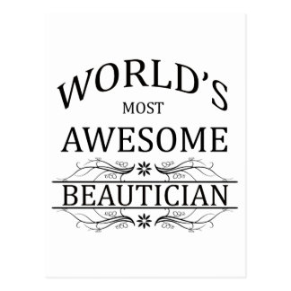 World's Most Awesome Beautician Postcards