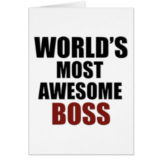 World's most awesome Boss Greeting Card
