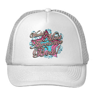 Worlds Most Awesome Boss Mesh Hat