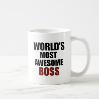 World's most awesome Boss Basic White Mug
