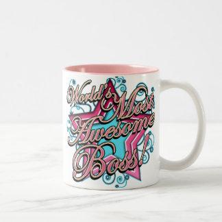 Worlds Most Awesome Boss Two-Tone Mug