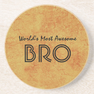 World's Most Awesome BRO Gold Grunge Gift Set Drink Coasters