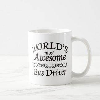 World's Most Awesome Bus Driver Basic White Mug