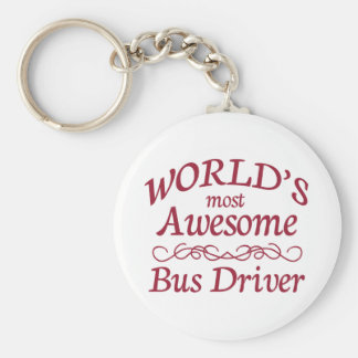 World's Most Awesome Bus Driver Key Ring