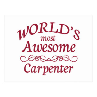 World's Most Awesome Carpenter Postcard