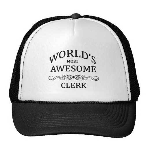 World's Most Awesome Clerk Mesh Hats