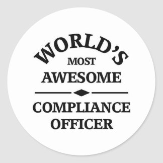 World's most awesome Compliance Officer Classic Round Sticker