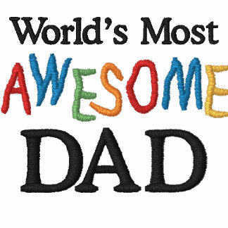 World's Most Awesome Dad Embroidered Polo Shirt