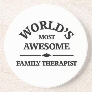 World's most awesome Family Therapist Beverage Coasters